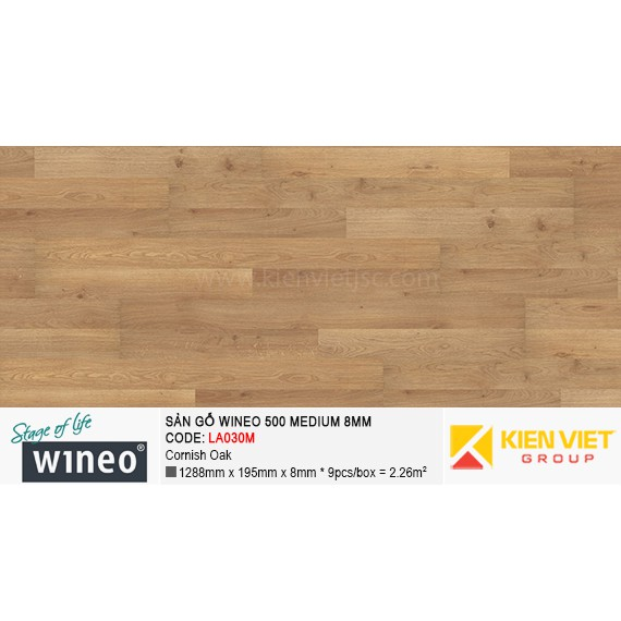 Sàn gỗ Wineo 500 Medium - LA030M | Cornish Oak 8mm