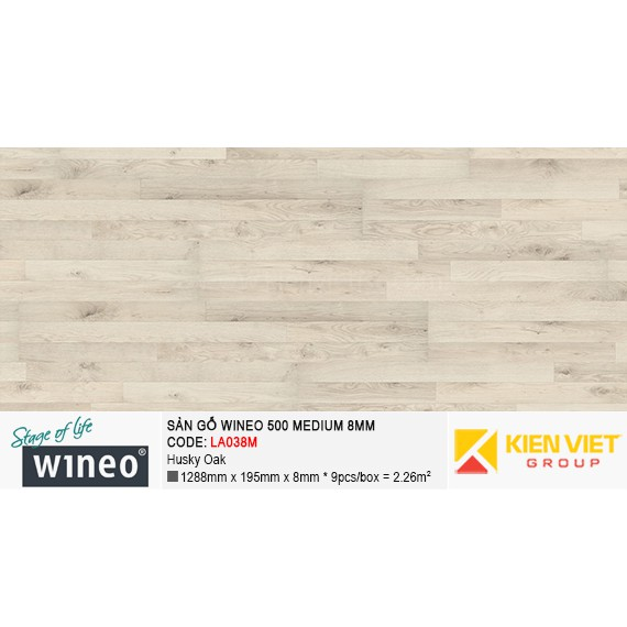 Sàn gỗ Wineo 500 Medium - LA038M | Husky Oak 8mm