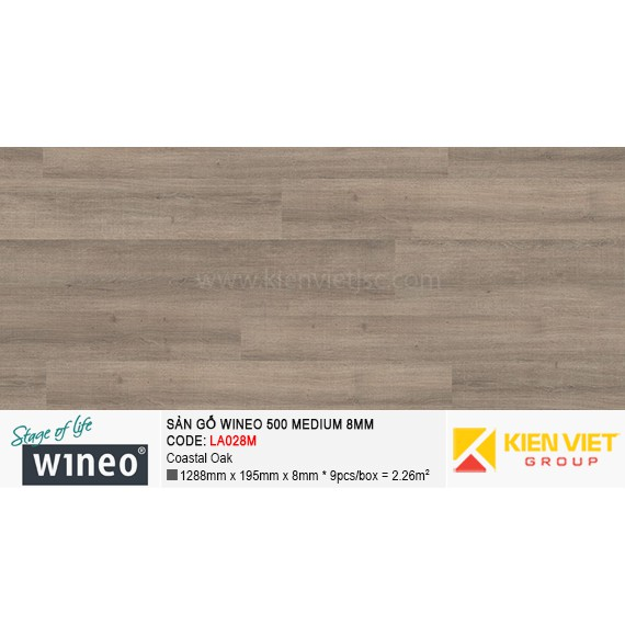 Sàn gỗ Wineo 500 Medium - LA028M | Coastal Oak 8mm
