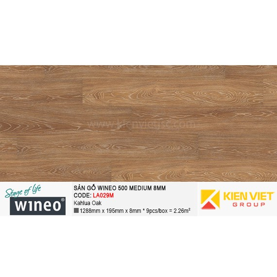Sàn gỗ Wineo 500 Medium - LA029M | Kahlua Oak 8mm