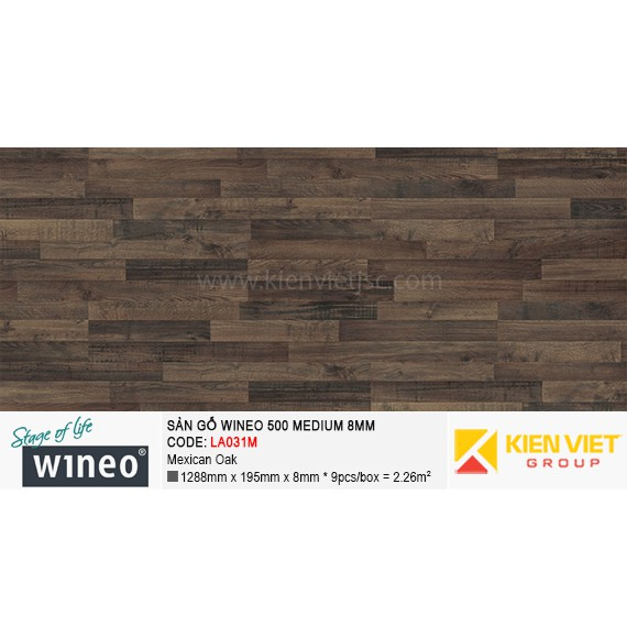 Sàn gỗ Wineo 500 Medium - LA031M | Mexican Oak 8mm