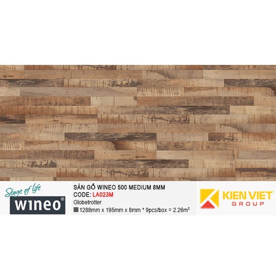Sàn gỗ Wineo 500 Medium - LA023M | Globetrotter 8mm