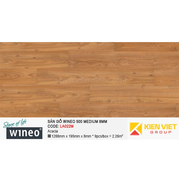 Sàn gỗ Wineo 500 Medium - LA022M | Acacia 8mm