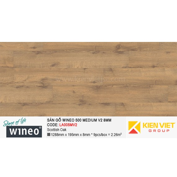 Sàn gỗ Wineo 500 Medium V2 - LA005MV2 | Scottish Oak 8mm