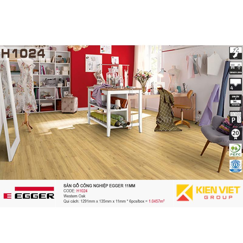 Sàn gỗ Egger H1024 Western Oak | 11mm