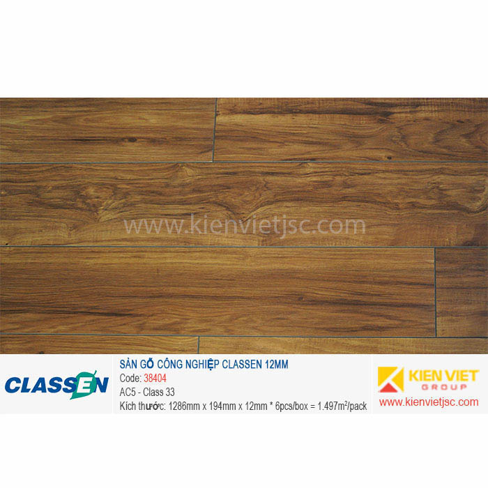Sàn gỗ Classen AC5 38404 - 12mm