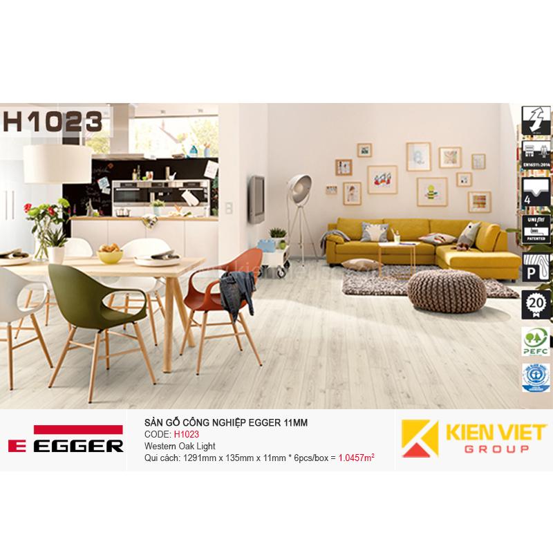 Sàn gỗ Egger H1023 Western Oak Light | 11mm