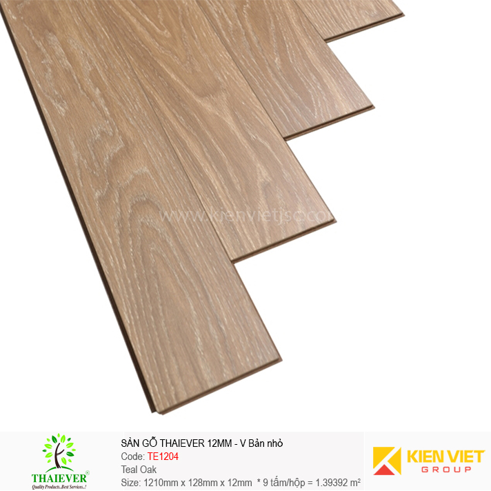 Sàn gỗ công nghiệp Thaiever TE1204 Teal Oak | 12mm bản nhỏ