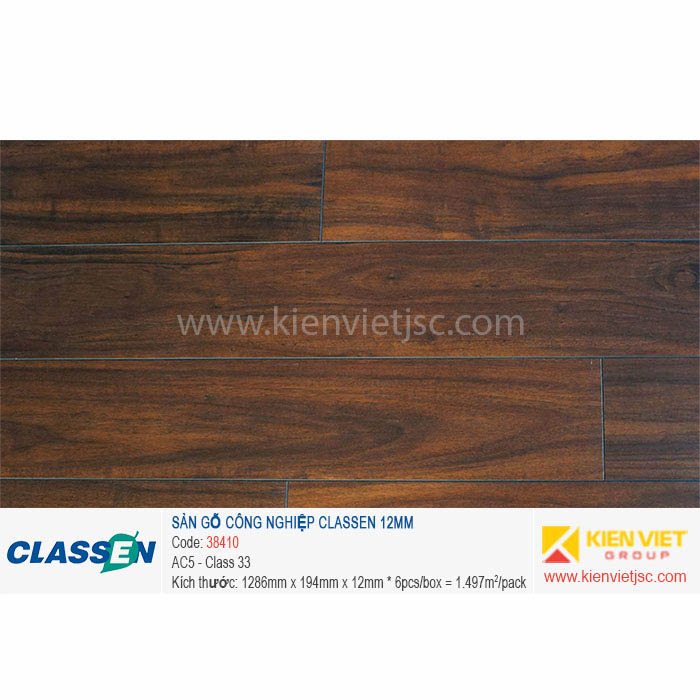 Sàn gỗ Classen AC5 38410 - 12mm