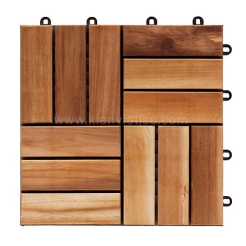 Vỉ gỗ ban công nhựa keo 30x30x22cm 12 nan