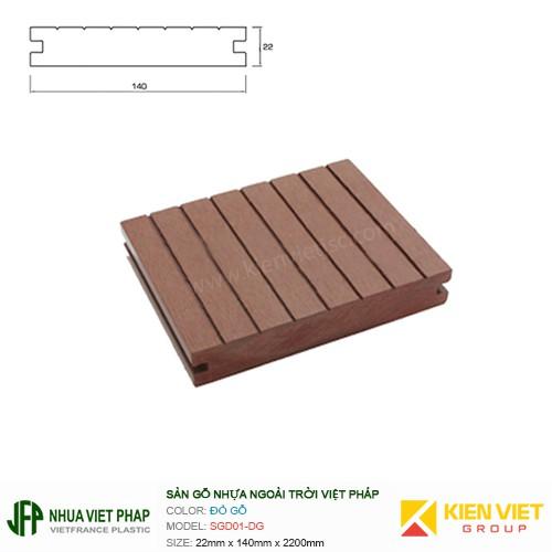 Sàn gỗ nhựa ngoài trời Việt Pháp SGD01 | 22x140mm