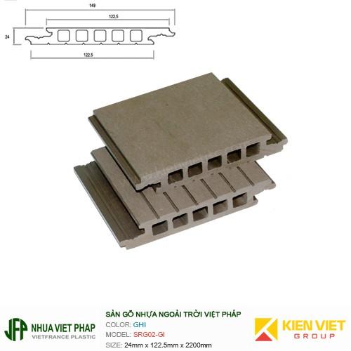 Sàn gỗ nhựa ngoài trời Việt Pháp SRGD02 | 24x122.5mm