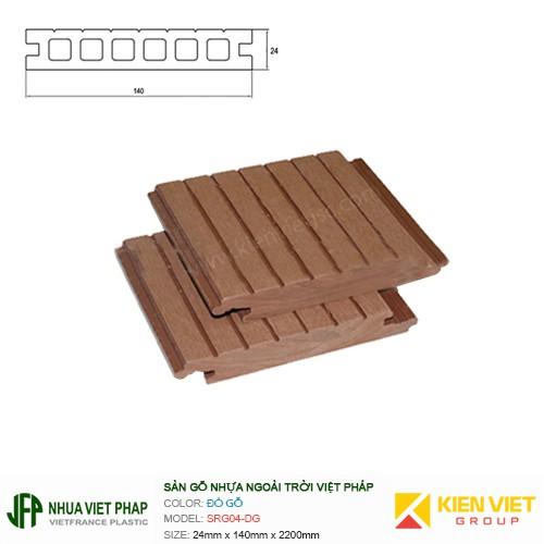 Sàn gỗ nhựa ngoài trời Việt Pháp SRG04-DG | 40x80mm