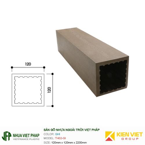 Sàn gỗ nhựa ngoài trời Việt Pháp TH02-GI   120x120mm