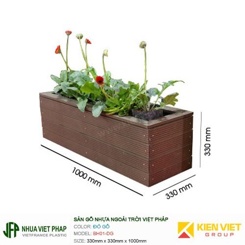 Bồn hoa gỗ nhựa ngoài trời Việt Pháp BH01-DG
