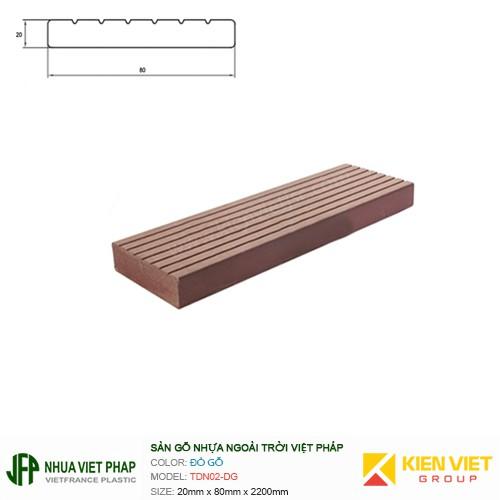 Sàn gỗ ban công thanh đa năng Việt Pháp TDN02-DG | 20x80mm