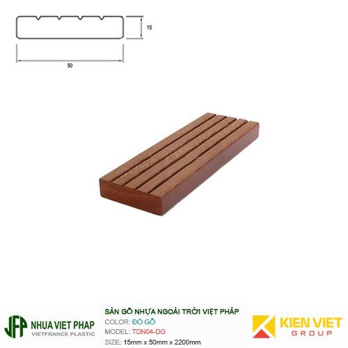 Sàn gỗ ban công thanh đa năng Việt Pháp TDN04-DG | 15x50mm
