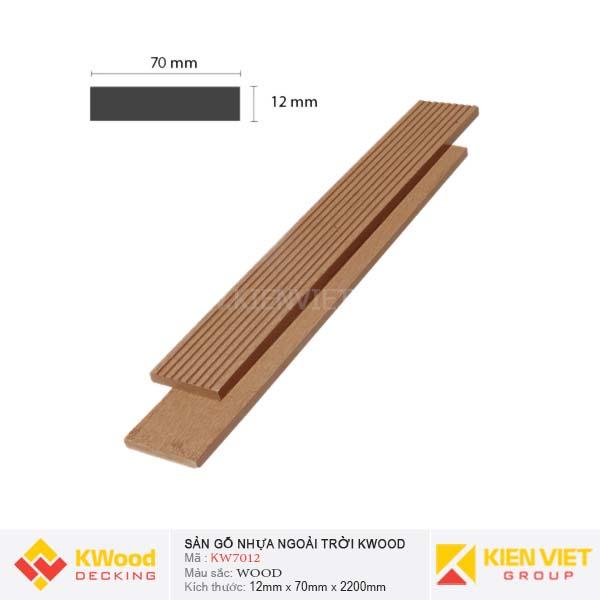 Sàn gỗ ban công ngoài trời Kwood KW70x12 Wood
