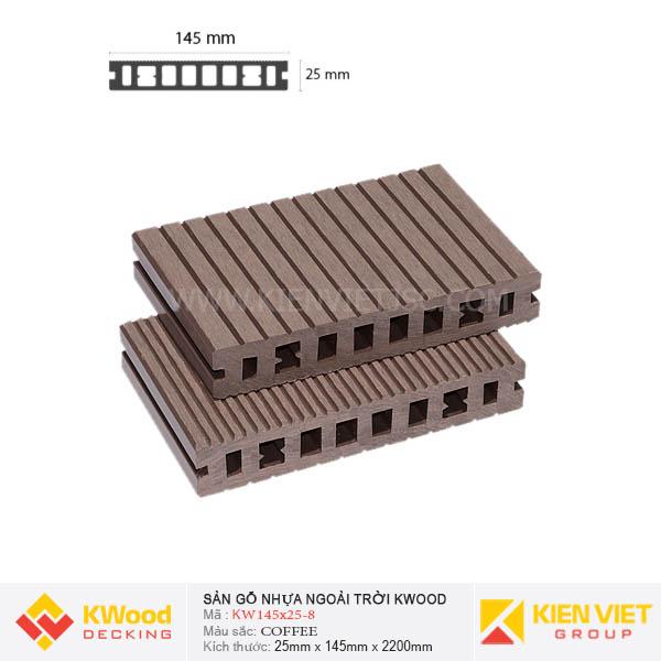 Sàn gỗ bể bơi ngoài trời Kwood KW145x25 Coffee