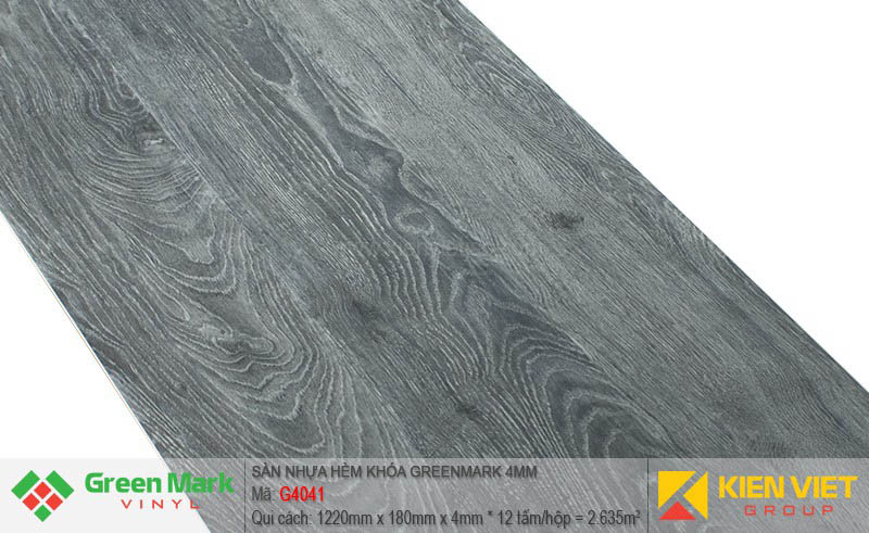 Sàn nhựa hèm khóa Green Mark G4041   4mm