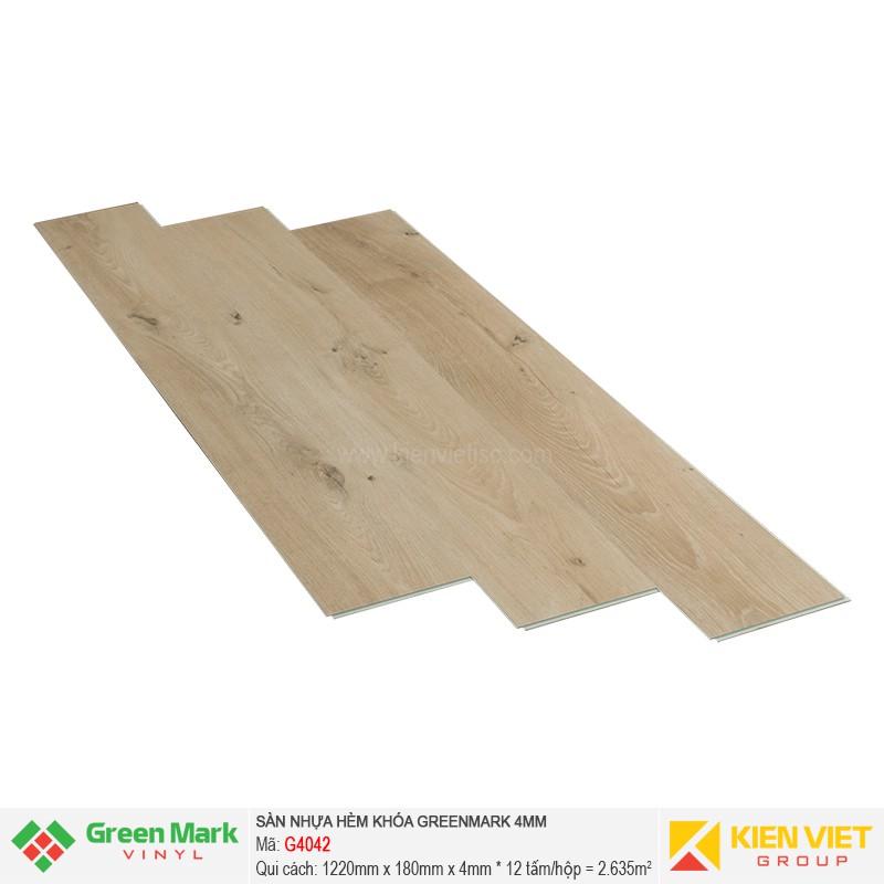 Sàn nhựa hèm khóa Green Mark G4042 | 4mm