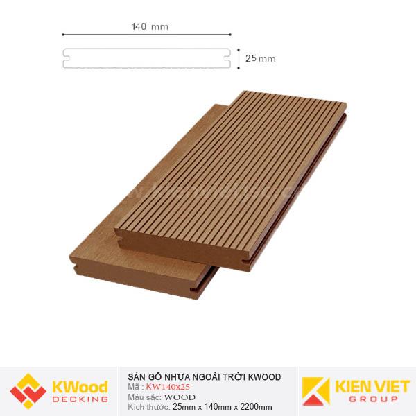 Sàn gỗ ngoài trời Kwood SD140x25 Wood
