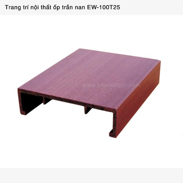Trang trí nội thất ốp trần nan Ecotech Wood | EW-100T25