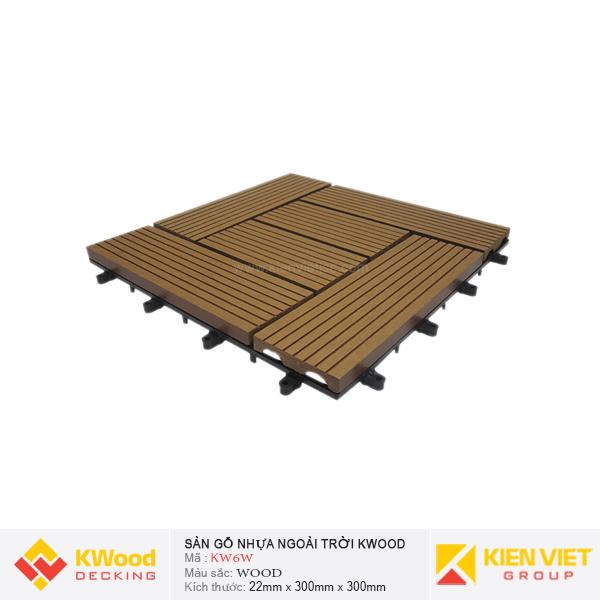 Vỉ gỗ nhựa bán nguyệt Kwood KW6W - Wood