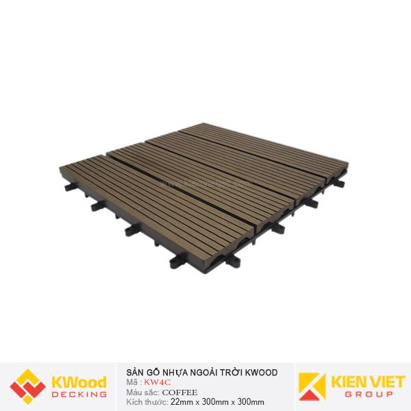 Vỉ gỗ nhựa bán nguyệt Kwood KW4C - Coffee