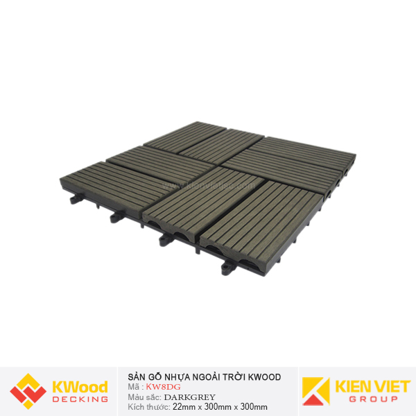 Vỉ gỗ nhựa bán nguyệt Kwood KW8DG - Darkgrey