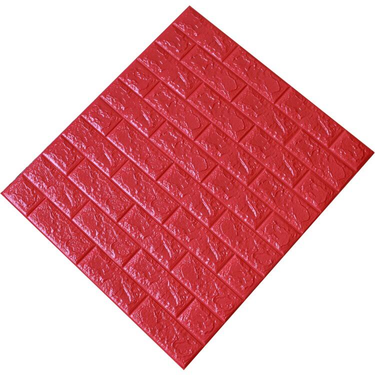 Tấm ốp tường xốp 3D đỏ | Đ16