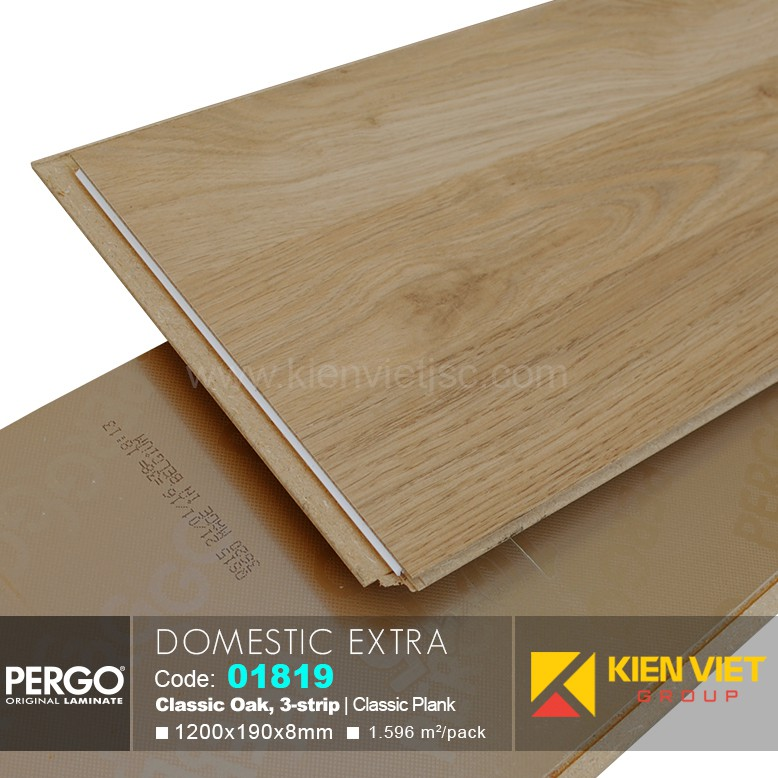 Sàn gỗ Pergo Domestic Extra 01819 | 8mm
