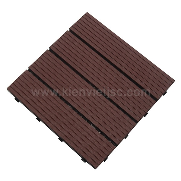Vỉ gỗ nhựa 30x30 Red Coffee 4 nan