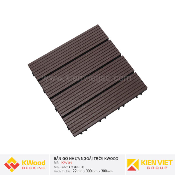 Vỉ Gỗ Nhựa Kwood KW04 Coffee