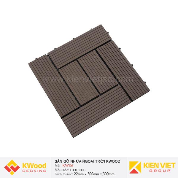 Vỉ Gỗ Nhựa Kwood KW06 Coffee