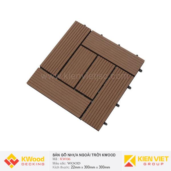 Vỉ Gỗ Nhựa Kwood KW06 Wood