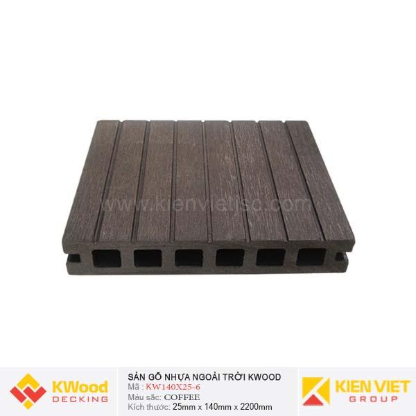Sàn gỗ ngoài trời Kwood KW140x25-6 Coffee