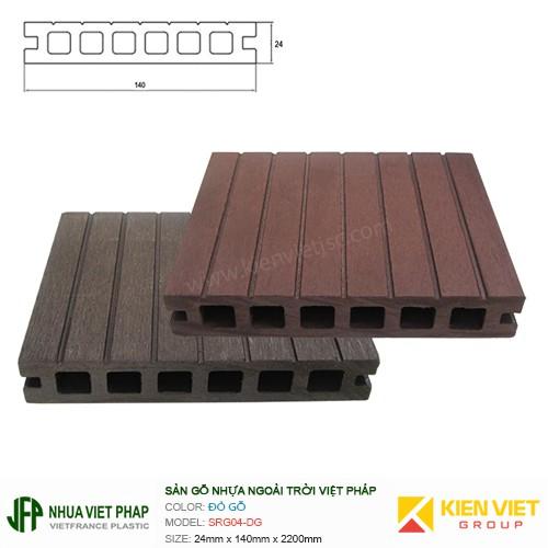 Sàn gỗ nhựa ngoài trời Việt Pháp SRG04 - 6 lỗ   24x140mm