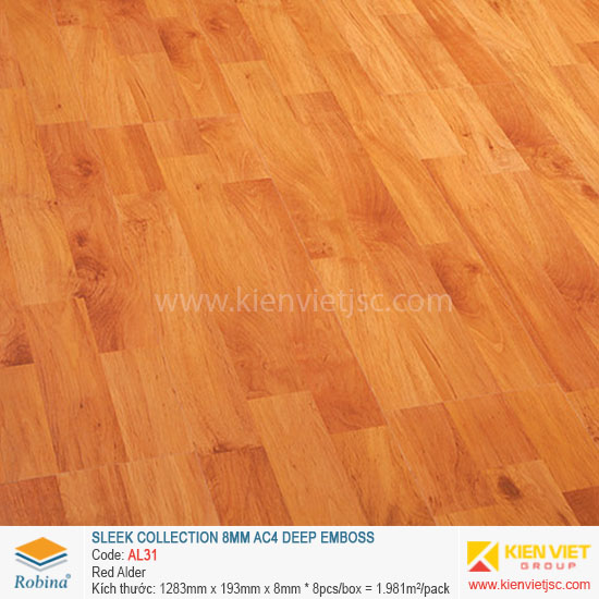 Sàn gỗ Robina architect collection AL31 Red Alder | 8mm