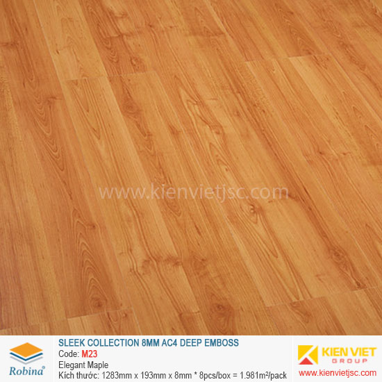Sàn gỗ Robina architect collection M23 elegant maple | 8mm