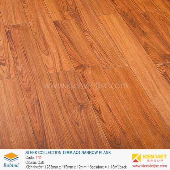 Sàn gỗ Robina Sleek Collection T11 Classis Oka | 12mm