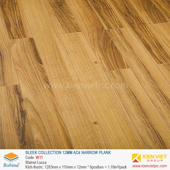 Sàn gỗ Robina Sleek Collection W11 Walnut Lucca | 12mm