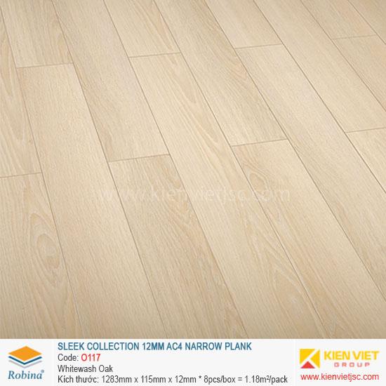 Sàn gỗ Robina Sleek Collection O117 Whitewash Oka | 12mm