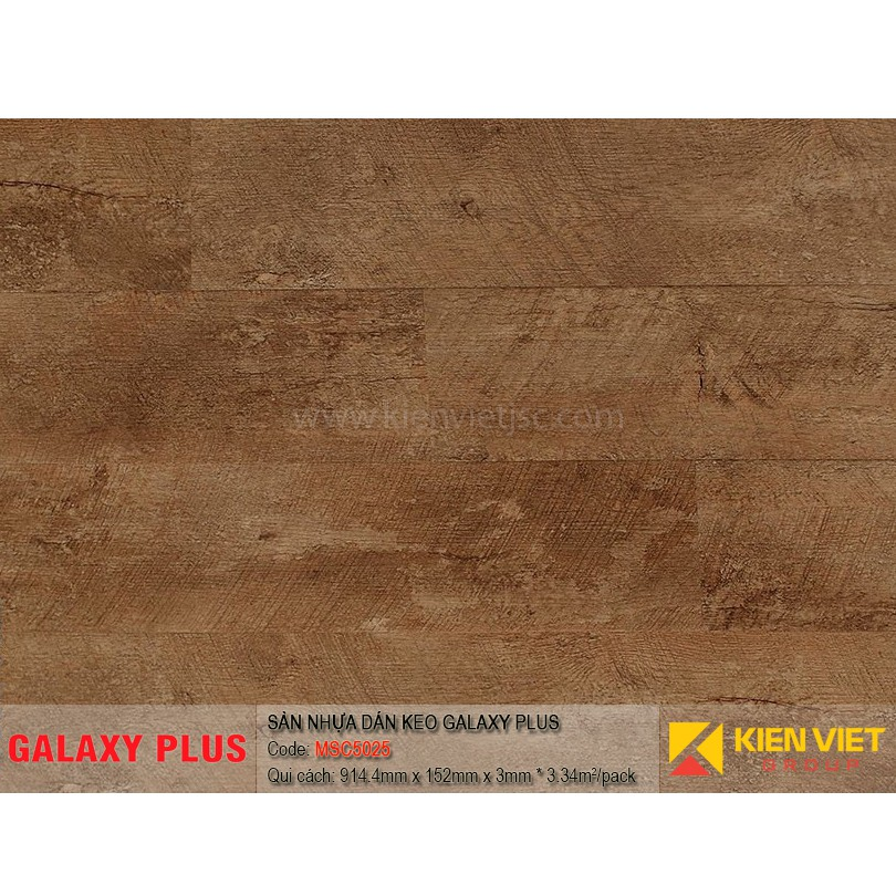 Sàn nhựa Galaxy Plus sợi thủy tinh MSC5025 | 3mm