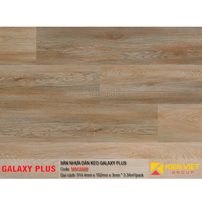 Sàn nhựa Galaxy Plus sợi thủy tinh MSC5022 | 3mm