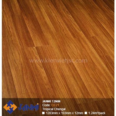 Sàn gỗ Janmi CE21 Tropical Chengal | 12mm