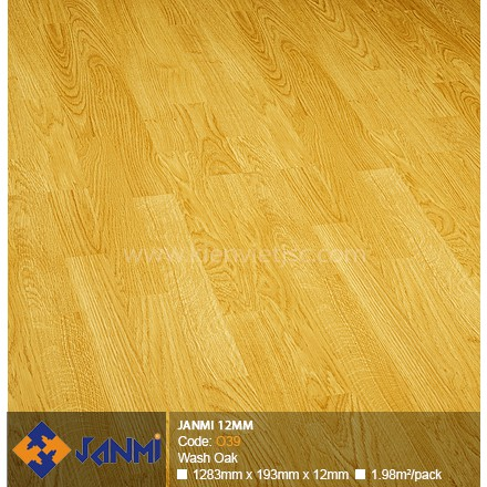 Sàn gỗ Janmi O39 Wash Oak | 12mm