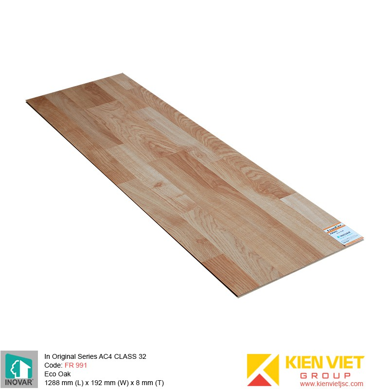 Sàn gỗ Inovar Original Series FR991 Eco Oak | 8mm