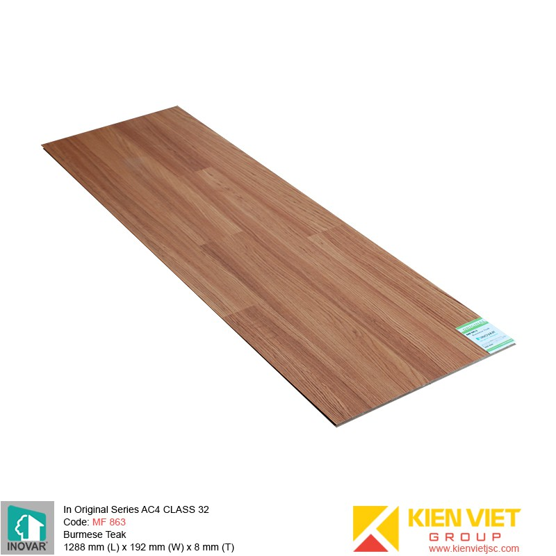Sàn gỗ Inovar Original Series MF863 Burmese Teak | 8mm