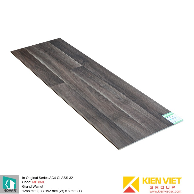 Sàn gỗ Inovar Original Series MF860 Grand Walnut | 8mm